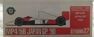 1/20 Studio27 McLaren Honda MP4/5B Senna Berger Champion Japan GP 1990 Resin