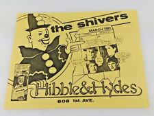 Shivers, Hibble and Hydes 1981 Seattle Band Concert Gig Poster 1st Ave. E2