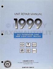 1999 GMC Manual Transmission Overhaul Book Sierra Yukon Jimmy Suburban Sonoma