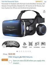Pansonite Vr Headset with Remote Controller[New Version], 3D Glasses Virt... New