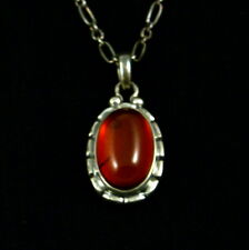 Georg Jensen Sterling Silver Pendant of the Year 2001 with Amber - Heritage