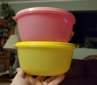 New TUPPERWARE SS (Store & Serve) Bowls 5.25 C/1.5L Set of 2 FREE US SHIPPING