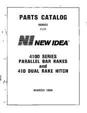 New Idea Parts Catalog 4100 Series Parallel Bar Rakes and 410 Dual Rake Hitch