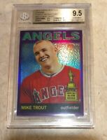 2013 Topps Heritage Mike Trout AS RC Chrome Purple Refractor BGS 9.5 GEM MINT🔥
