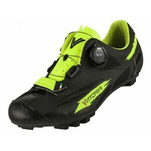 Vittoria Captor BOA Black/Yellow MTB Shoes Size EU 43.5 US Size 9.5 - E4
