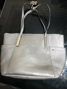 Kenneth Cole Reaction Ladies Silver Tote Bag