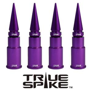 4 TRUE SPIKE PURPLE SPIKED WHEEL RIM AIR VALVE STEM COVER CAP FOR GMC SIERRA C