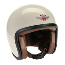 Davida V3 Speedster 93 Open Face Motorcycle Helmet - Cream / Nut Leather