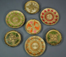 Italian Toleware Tray Florentiner Florence Platter Composition Plates Coffee Set