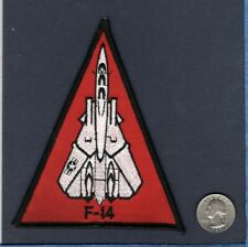 F-14 TOMCAT US Navy Grumman VF Fighter Squadron Red Triangle Patch