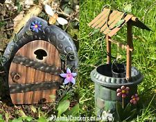 Metal Fairy Door and Wishing Well garden ornaments decorations fairy lover gift
