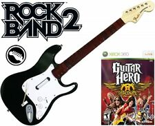 NEW Xbox 360 Rock Band 2 Fender Stratocaster Guitar & Guitar Hero Aerosmith Game