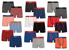 Branded 2 Pack Boxer Shorts Men's Underwear Cotton Stretchy Sporty Trunks