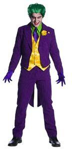 DC Comics Deluxe The Joker Costume Purple Pinstrip Suit Batman Mens Adult XS-XL