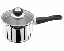 Judge Vista 18cm Saucepan With Double Sided Draining Glass Lid 2.1L Dishwasher