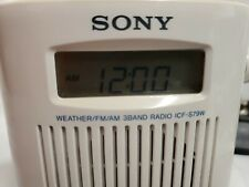 Sony ICF-S79W Water Resistant Weather/AM/FM 3-Band Shower Radio