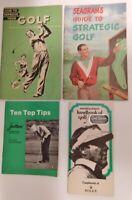 Vintage MCM Golf Handbooks Tips Guides Palmer Rolex Seagrams Jantzen SI
