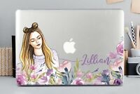 Personalized Girl Cute Macbook Air 11 13 Pro 13 15 Top Bottom Printed Case Cover
