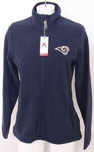 NEW Los Angeles LA Rams Antigua Ice Navy Fleece Full Zip Jacket Women's M