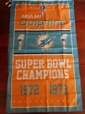 Miami Dolphins 3x5 Super Bowl Champions Flag. Free shipping within the US