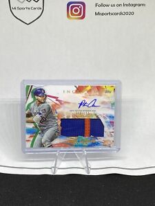 2020 Topps Inception Game Worn Patch Auto PETE ALONSO 116/155 New York Mets 🔥🔥