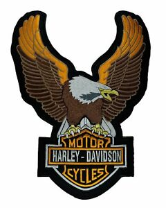 Biker Patch HD Eagle - Embroidered Motorcycle