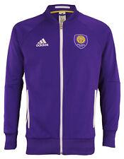 adidas MLS Men's Orlando City SCAnthem Full Zip Jacket, Purple