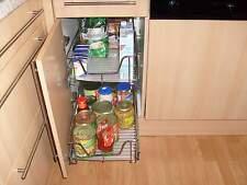 TELESKOPAUSZUG 40 cm Boden+XXL Korb, Apothekerschrank, Küchenschublade