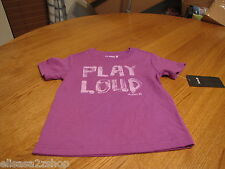 Hurley youth boy's large kids t shirt surf skate Play loud neon purple NEW logo