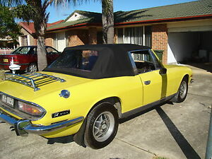 TRIUMPH STAG 1971 - 1977 BLACK STAYFAST  SOFT TOP