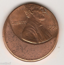 Mint Error Coin ~ 1990 Lincoln Off Center Cent ~ Very Rear