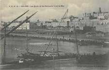 Sousse Tunisia Les Quais Remparts Harbor View Antique Postcard J65847