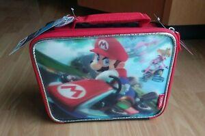 Super Mario Mariokart Nintendo Thermos Insulated Lunch Bag Box Cooler – New NWT