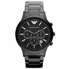 Emporio Arman1 AR2448 Men's Watch Black Dial Stainless Steel, 3 Years Warranty