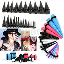 36Pcs Ear Plug Set Ear Spike Expander Stretcher Tunnel Set Kit Solid Flesh Taper