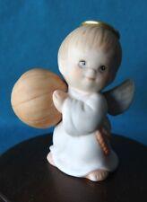 Enesco Ruth Morehead Holly Babes Angel Boy with Basketball Figurine Cute!