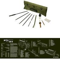 AR-15 OD Green Tek Mat Bench Mat  & Complete UTG Rifle Cleaning Kit Combo Set