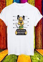 Disney Pluto Dog Mugshot Cartoon Characters Funny Men Women Unisex T-shirt 640