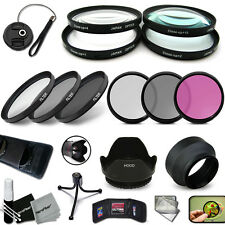 PRO 52MM Lens Filters + 52mm Lens Hood KIT including: 52mm Macro Filters + MORE