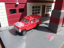 MAJORETTE No.246 RANGE ROVER RESCUE VEHICLE - RED - APPROX.1:64 DIECAST
