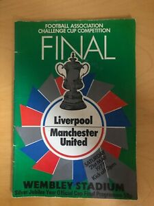 1977 FA Cup Final Programme Liverpool vs Manchester
