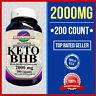 Keto Diet Pills 1000MG +1000=2000 Ketosis Weight Loss Fat Burn &Carb 200 Cap USA