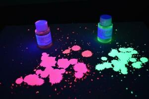1oz Bright Green Red UV Blacklight Reactive Invisible Ink Combo