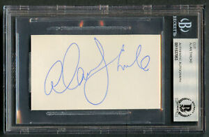 Alan Thicke (d 2016) signed autograph 2x3.5 cut Actor: Growing Pains BAS Slabbed