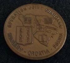 VINTAGE Operation Joint Guard Hungary Croatia Bosnia US Military Challenge Coin