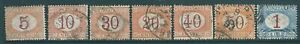 ITALY 1870 used Postage Due stamp collection to 1L