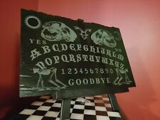 Large Ouija Spirit Board Etched on Youghiogheny Stained Glass Cat Skull Variant