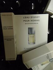 LOT 10  ISSEY MIYAKE L'EAU D'ISSEY EDT FRAICHE MENS BOXED SAMPLES VIALS AFTERSHA