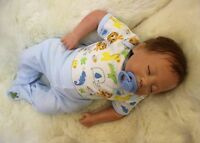 Newewst 18'' Lifelike Reborn Baby Boy Doll Soft Vinyl Silicone Newborn Bebe Toys