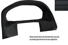 BLACK LEATHER SPEEDO SURROUND LEATHER SKIN COVER FITS RANGE ROVER P38 94-02